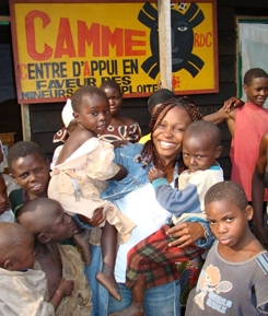 Christine Lunanga started CAMME to help children escape the trauma of war in Congo.