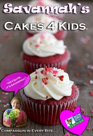 Logo for VOLUNTEERS! Welcome to Savannah's Cakes 4 Kids! 'Bake' a Difference Today!!