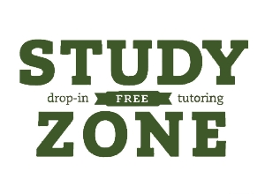 Logo for Be a STUDY ZONE TUTOR at the Greenbridg Library and give students the tutoring help they need!