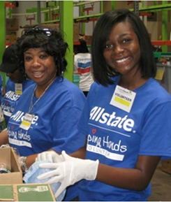 Allstate's Week of Service this year brought thousands of em