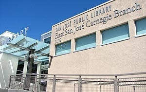 Logo for Friends of the East San Jose Carnegie Branch Library Book Sale Volunteer