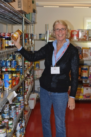 Helping in P2P's Food Pantry