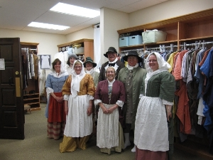 Volunteers at Pennsbury Manor