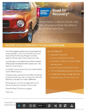 Road to Recovery Recruitment Flyer
