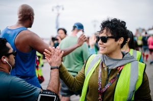 Brooklyn Half volunteer