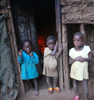 Batwa children of Karehe village