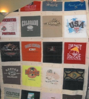 Travel Diary in a T-Shirt Quilt