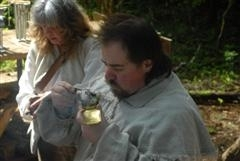 fire starting and candle making at Fort Clatsop