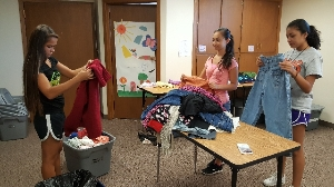 Shorting donation of Clothing