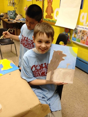 Cohox painting students