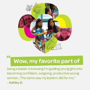 Why I love to volunteer as a Girl Scout!