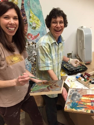 Our Studio Arts students and volunteers have fun!