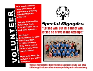 Volunteer with Special Olympics