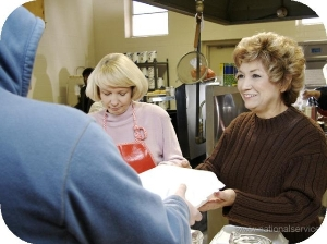RSVP Volunteer serving a nutritious meal