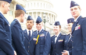 Cadets in Washington DC