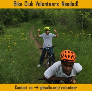 Jump on your bike and service your community!