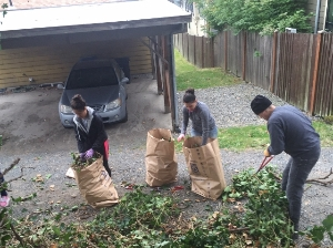 Volunteers in Garden