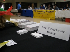 Volunteer Child iD and Safety information booth