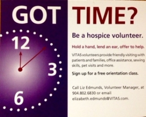 Be A Hospice Volunteer!