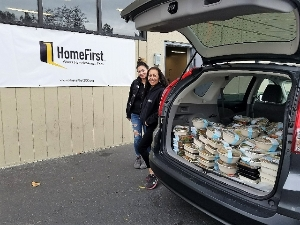 A food run delivery to a local non-profit