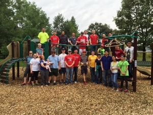Playground mulching project complete!