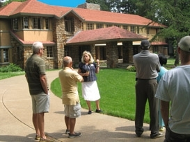 Tour in progress at Frank Lloyd Wright's Graycliff
