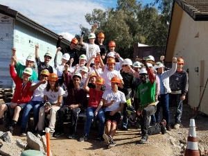 Volunteer Building Homes