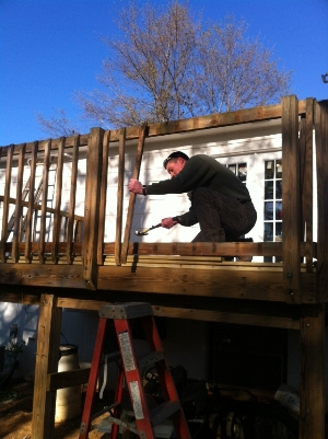 Replacing Deck railings