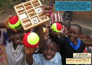 Children with donation - AIDSfreeAFRICA , Cameroon