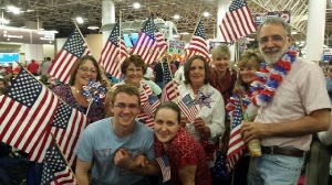 Allay participates in Honor Flight Homecoming