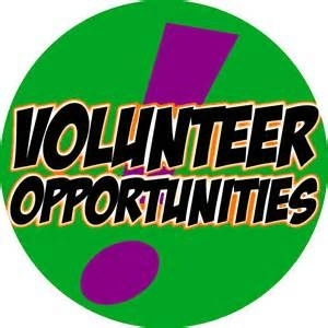 Volunteer Opportunities Available!!