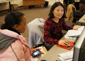 VITA Volunteer assists client 2011