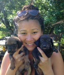 Stephanie Hong loves volunteering with animals.
