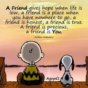 We all need friends and hope