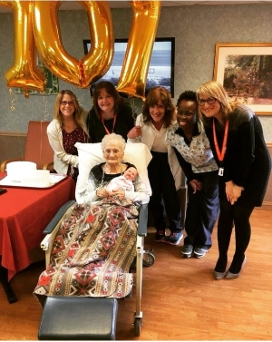Celebrating with patients