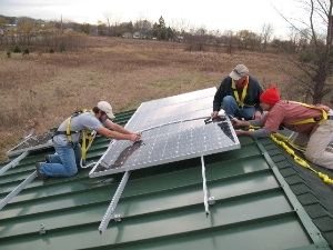 Solar PV on the roof of IRETC