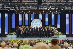 OCWC on stage in Llangollen, Wales