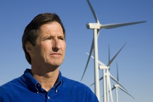 Founder Peter Meisen with windmills