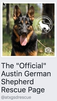 Austin German Shepherd Rescue Facebook